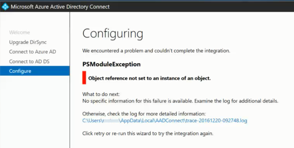 DirSync to Azure Active Directory Connect Migration – vBrisket